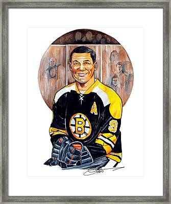 Johnny Bucyk Framed Print by Dave Olsen