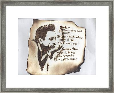 Johnny Cash Framed Print by Clarence Butch Martin