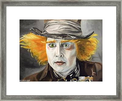 Johnny Depp - The Mad Hatter Framed Print by Ina Schulz