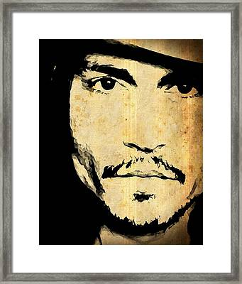 Johnny Depp - Up Close And Personal Framed Print