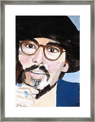Framed Print featuring the painting Johnny Depp 5 by Audrey Pollitt