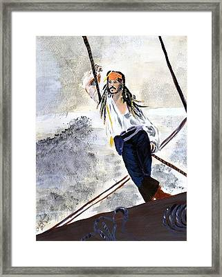 Framed Print featuring the painting Johnny Depp 8 by Audrey Pollitt