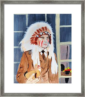 Framed Print featuring the painting Johnny Depp 9 by Audrey Pollitt