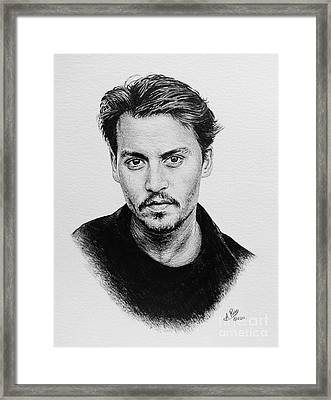 Johnny Depp Framed Print by Andrew Read