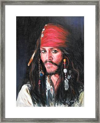 Johnny Depp Framed Print by Anju Saran
