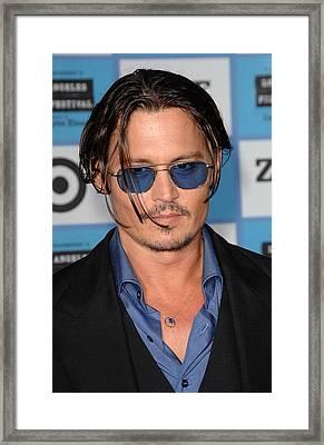 Johnny Depp At Arrivals For 2009 Los Framed Print by Everett
