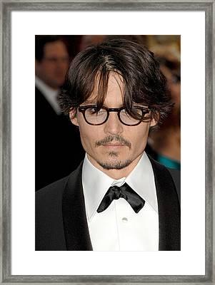 Johnny Depp At Arrivals For Red Carpet Framed Print