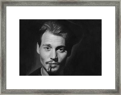 Johnny Depp Framed Print by Nat Morley