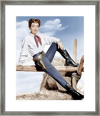 Johnny Guitar, Joan Crawford, 1954 Framed Print by Everett