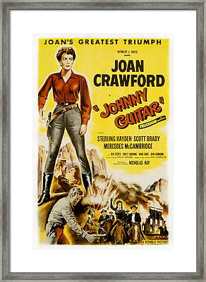 Johnny Guitar, Joan Crawford, Sterling Framed Print by Everett