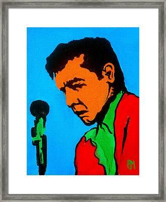 Johnny Pop II Framed Print by Pete Maier