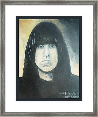 Johnny Ramone The Ramones Portrait Framed Print by Kristi L Randall
