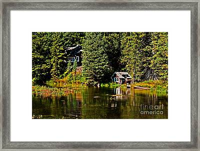 Johnny Sack Cabin II Framed Print by Robert Bales