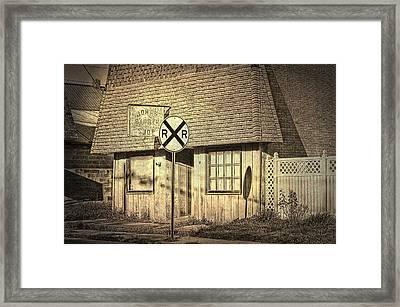 John's Barber Shop Framed Print by Cheryl Cencich