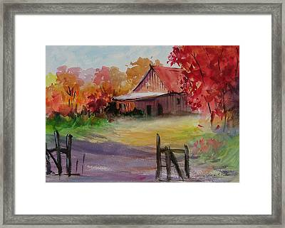 John's Barn Framed Print by Heidi Patricio-Nadon