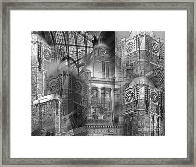 Johnson County Tx Courthouse Framed Print by David Carter