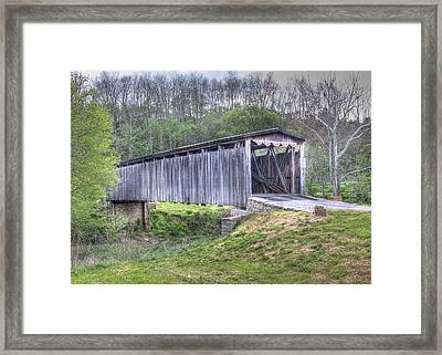 Johnson Creek Covered Bridge Framed Print