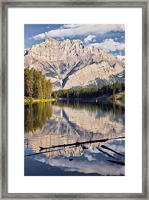 Johnson Lake And Cascade Mountain Framed Print by Darwin Wiggett