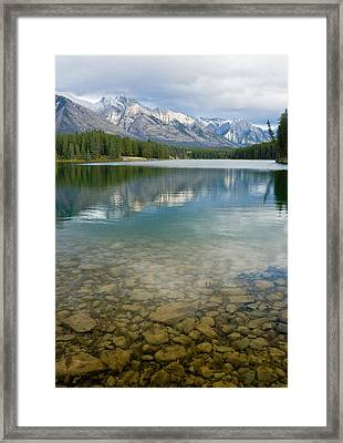 Johnson Lake Rocks Framed Print by Adam Pender