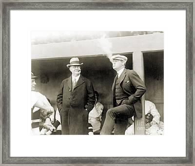 Johnson & Ruth, 1922 Framed Print by Granger