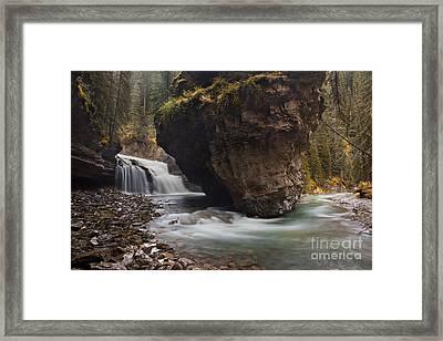 Johnston Creek Waterfall Framed Print by Keith Kapple