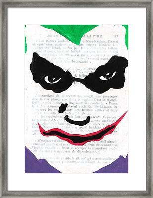 Joker Framed Print by Jera Sky