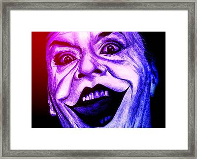Joker Neon Framed Print by Michael Mestas
