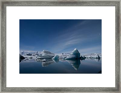 Jokulsarlon At Night Framed Print
