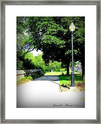 Framed Print featuring the photograph Jollycut Park Walk by Danielle  Parent