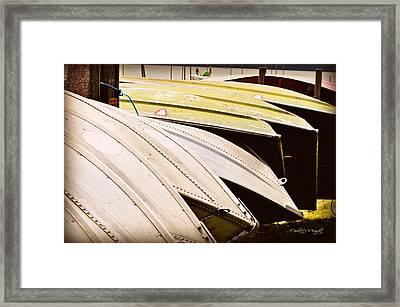Jon Boats Framed Print by Paulette B Wright