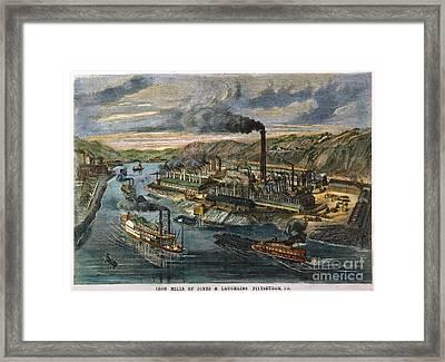 Jones/laughlin Iron Works Framed Print by Granger