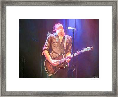 Jonny Lang Framed Print by Heidi Smith