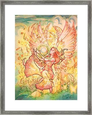 Jophiel Framed Print by Arwen De Lyon