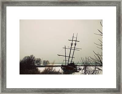 Jordan, Ontario, Canada A Tall Ship Framed Print by Pete Stec