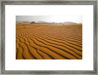 Jordan Wadi Rum Sand Dunes Pattern Framed Print by Jason Jones Travel Photography