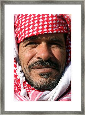 Jordanian Man Framed Print by Munir Alawi