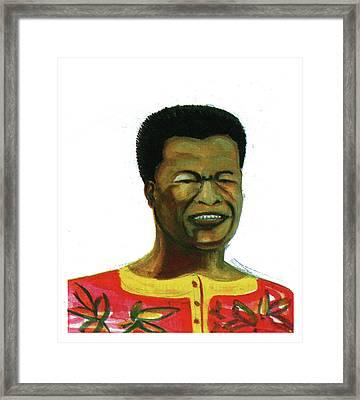Jose Belo Chipenda Framed Print by Emmanuel Baliyanga