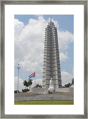 Framed Print featuring the photograph Jose Marti Memorial by David Grant