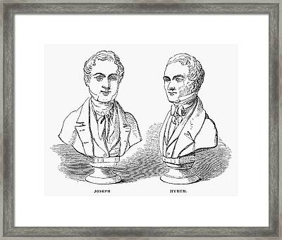 Joseph And Hyrum Smith Framed Print by Granger