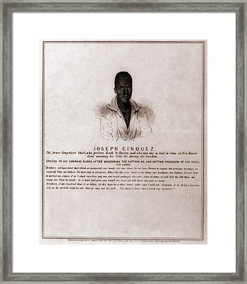 Joseph Cinquez, Lead Fifty-four African Framed Print by Everett
