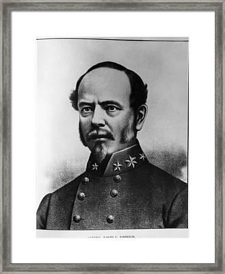 Joseph E. Johnston 1807-1891, U.s. Army Framed Print by Everett