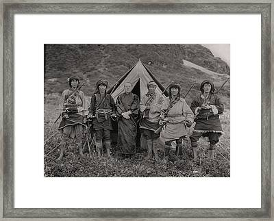 Joseph F. Rock With Local Chinese Framed Print by Dr Joseph F Rock