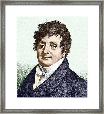 Joseph Fourier, French Mathematician Framed Print by Sheila Terry
