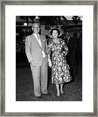 Joseph P. Kennedy And Wife Rose Framed Print by Everett