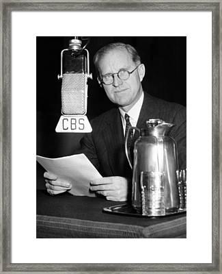Joseph P. Kennedy Endorses Franklin Framed Print by Everett