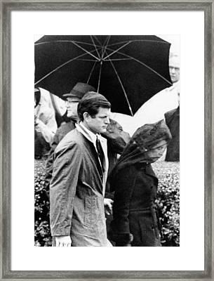 Joseph P. Kennedy Funeral. Rose Kennedy Framed Print by Everett
