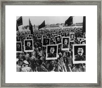 Joseph Stalin Celebrated In Red China Framed Print by Everett