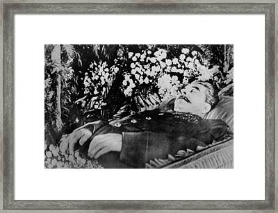 Joseph Stalin, Lying In State In Hall Framed Print by Everett