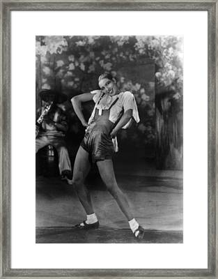 Josephine Baker At The Folies Bergere Framed Print by Everett