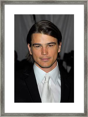 Josh Hartnett At Arrivals Framed Print by Everett